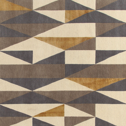 GIO PONTI Diamantina yellow grey | Rugs | Amini