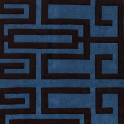 GIO PONTI Labirinto blue black | Rugs | Amini