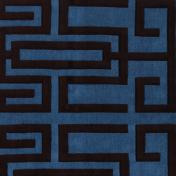 GIO PONTI Labirinto blue black | Tappeti / Tappeti d'autore | Amini