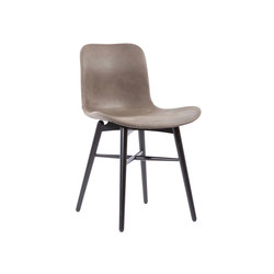 Langue Original Dining Chair, Black - Leather:  Tempur Leather Grigio Grey 4007 | Sillas para restaurantes | NORR11