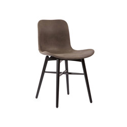 Langue Original Dining Chair, Black / Tempur Leather Carbon Brown 4004   Sillas   NORR11