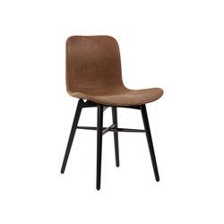 Langue Original Dining Chair, Black / Tempur Leather Curio Brown 4001   Sillas   NORR11