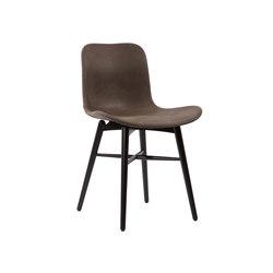 Langue Original Dining Chair, Black / Vintage Leather Dark Brown 21001   Sillas   NORR11