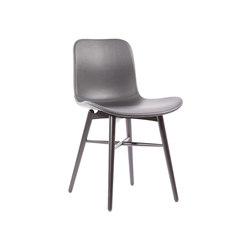 Langue Original Dining Chair, Black / Premium Leather Black 41599   Sillas   NORR11