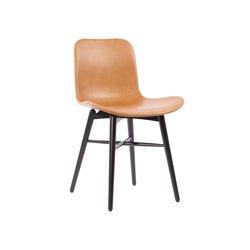 Langue Original Dining Chair, Black / Premium Leather Brandy 41574   Sillas   NORR11