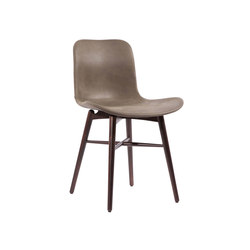 Langue Original Dining Chair, Dark Stained - Leather: Tempur Leather Carbon Brown 4004 | Sillas para restaurantes | NORR11