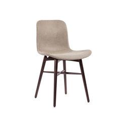Langue Original Dining Chair, Dark Stained - Leather: Tempur Leather Grigio Grey 4007 | Sillas para restaurantes | NORR11