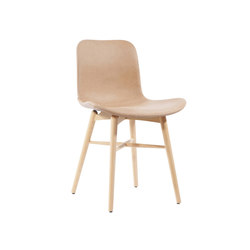 Langue Original Dining Chair, Natural / Vintage leather Camel 21004 | Chairs | NORR11
