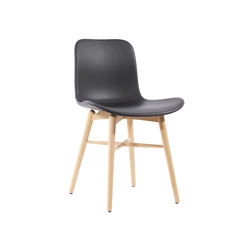 Langue Original Dining Chair, Natural /  Premium Leather Black 41599 | Sillas | NORR11