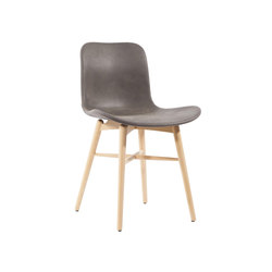 Langue Original Dining Chair, Natural /  Tempur Leather Carbon Brown 4004 | Sillas | NORR11
