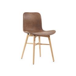 Langue Original Dining Chair, Natural /  Tempur Leather Curio Brown 4001 | Sillas | NORR11