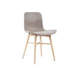 Langue Original Dining Chair, Natural /  Tempur Leather Grigio Grey 4007 | Sillas | NORR11