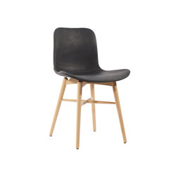 Langue Original Dining Chair, Natural /  Vintage Leather Anthracite 21003 | Sillas | NORR11