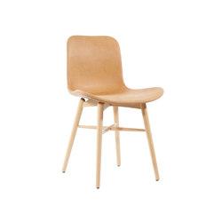 Langue Original Dining Chair, Natural /  Vintage Leather Cognac 21000 | Sillas | NORR11