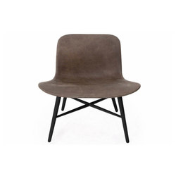 Langue Original Lounge Chair, Black / Leather: Premium Leather Black 41599 | Loungesessel | NORR11