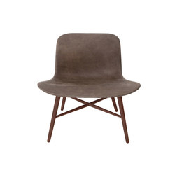 Langue Original Lounge Chair, Dark Stained / Tempur Leather Carbon Brown 4004 | Armchairs | NORR11