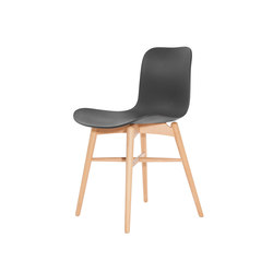 Langue Original Dining Chair, Natural: Anthracite Black | Restaurant chairs | NORR11