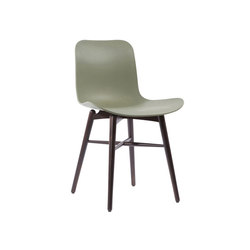 Langue Original Dining Chair, Dark Stained / Moss Green | Chaises | NORR11