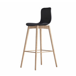 Langue Bar Stool, Natural: Anthracite Black | Barhocker | NORR11