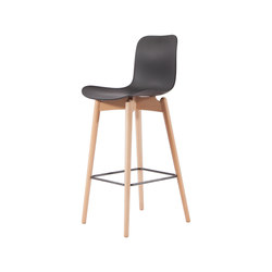 Langue Bar Chair, Natural / Flint Grey | Bar stools | NORR11