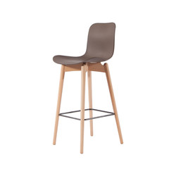 Langue Bar Chair, Natural / Gargoyle Brown | Bar stools | NORR11