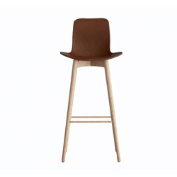 Langue Bar Stool, Natural - Leather: Premium Leather Brandy 41574 | Barhocker | NORR11