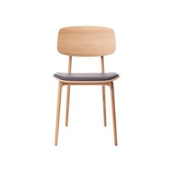 NY11 Dining Chair, Natural - Premium Leather Black | Sillas | NORR11