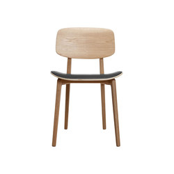 NY11 Dining Chair, Natural - Leather: Jet Black | Restaurant chairs | NORR11