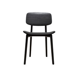NY11 Dining Chair, Black - Leather: Jet Black | Chaises de restaurant | NORR11