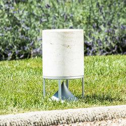 Cylinder Short premium stones travertine   Speakers   Architettura Sonora