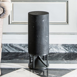 Cylinder Tall standard stones black marble | Speakers | Architettura Sonora