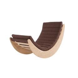 Verner Panton Relaxer One Chair, Natural / Wool: Mocca | Lounge chairs | NORR11