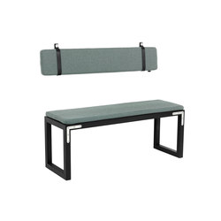 Conekt Bench Coda 2 Steel Brackets | Waiting area benches | by Lassen