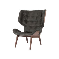 Mammoth Chair, Dark Stained / Leather: Vintage Leather Anthracite 21003 | Loungesessel | NORR11