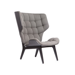 Mammoth Chair Limited Edition, Black: Fabric-Kvadrat-Basel 189 fabric Kvadrat Basel 189 | Loungesessel | NORR11