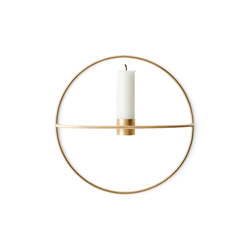 POV Circle Candle Holder | S Brass | Portacandele | MENU