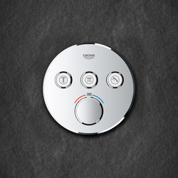 Grohtherm SmartControl Thermostat for concealed installation with 3 valves | Shower taps / mixers | GROHE