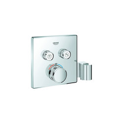 Grohtherm SmartControl Thermostat for concealed installation with 2 valves and integrated shower holder | Shower taps / mixers | GROHE