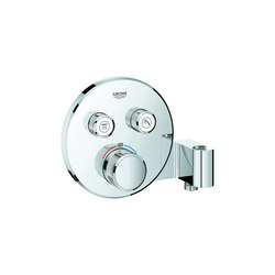Grohtherm SmartControl Thermostat for concealed installation with 2 valves and integrated shower holder | Shower controls | GROHE