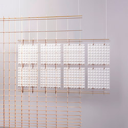 Grid Space Dividers | Sound absorbing suspended panels | Tuttobene