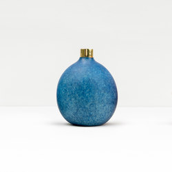 Pomme Vase Blue | Vases | Tuttobene