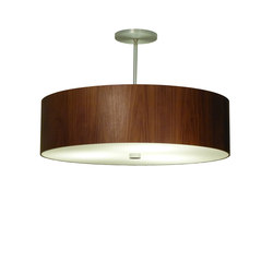 Wood Veneer Drum Pendant | Pendelleuchten | Donovan Lighting