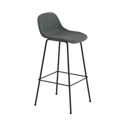 Fiber Bar Stool | tube base  - grey | Bar stools | Muuto