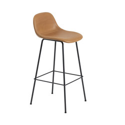 Fiber Bar Stool | tube base  - ocre | Bar stools | Muuto