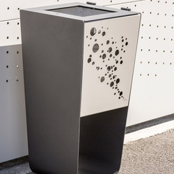 Karma customizable litter bin | Pattumiere | Concept Urbain