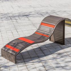 Soha metal transat | Exterior benches | Concept Urbain