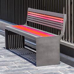 Soha metal bench | Benches | Concept Urbain