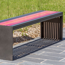 Soha metal backless bench | Benches | Concept Urbain
