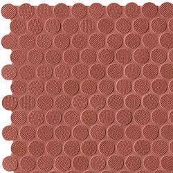 Color Line Copper Marsala Round Mosaico | Ceramic mosaics | Fap Ceramiche