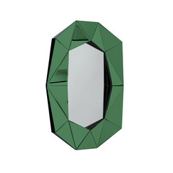 Diamond Large emerals/silver/black | Mirrors | Reflections Copenhagen
